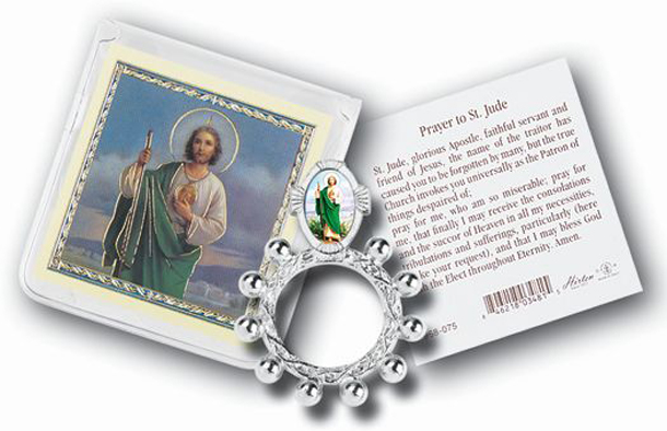 St.Jude Rosary Ring And Prayer Card 10-Pack