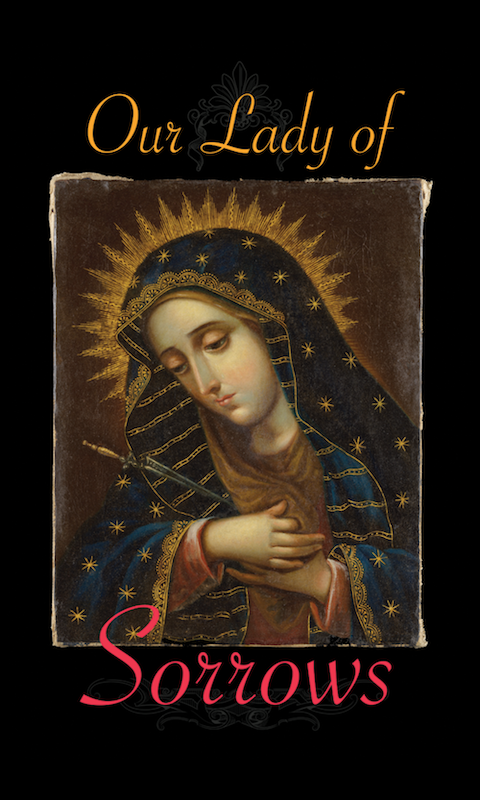 Our Lady of Sorrows Holy Card - 25-Pack