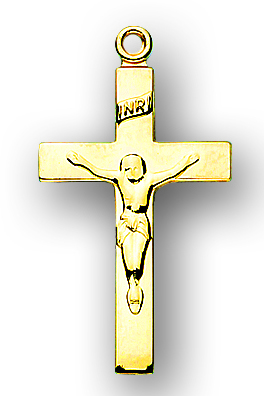 Solid 14kt. Gold Crucifix
