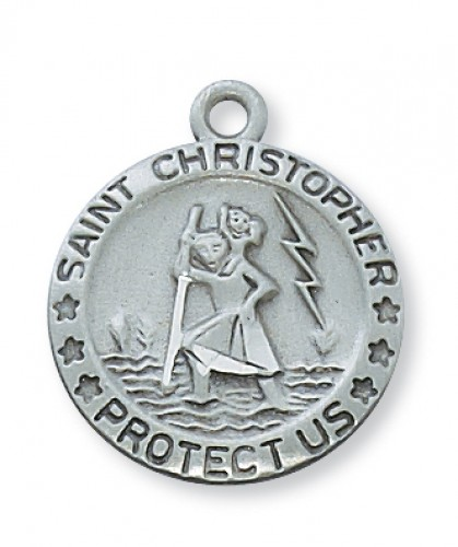 Light Rhodium Heavy Curb Chain Patron Saint 1 1//2 x 3//4 Sterling Silver Army Iraq Pendant