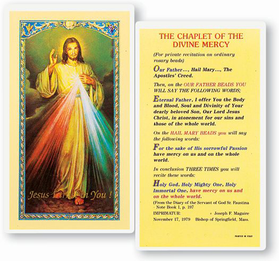 25-Pack - Chaplet Of The Divine Mercy Holy Card