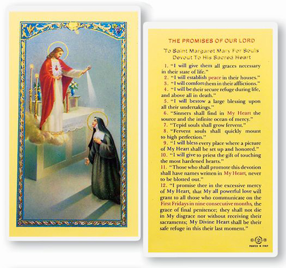 25-Pack - The Promises Of Our Lord Holy Card