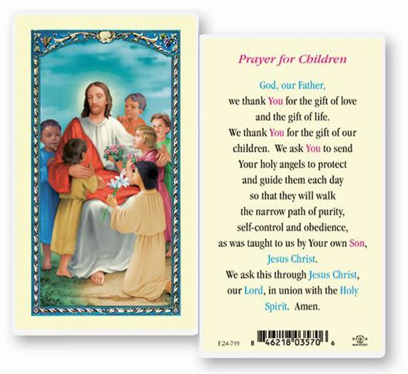 25-Pack - Prayer For Children Holy Card