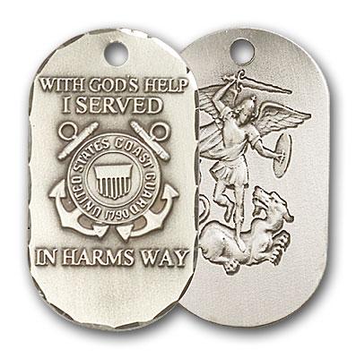 Sterling Silver Coast Guard Pendant
