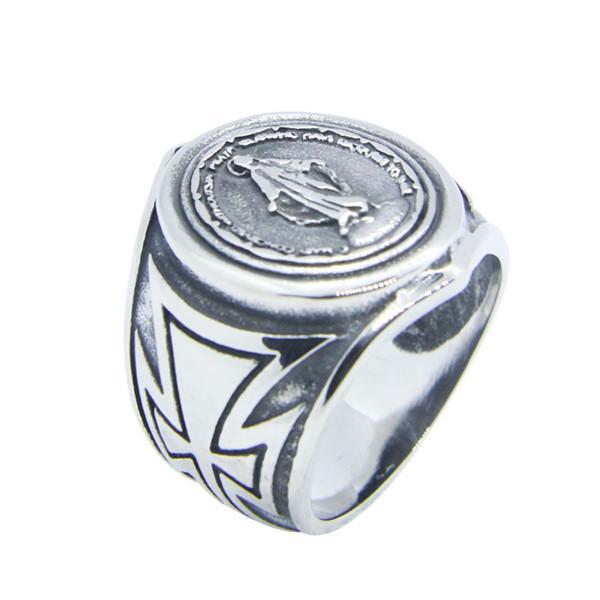 Miraculous Medal Ring for Men