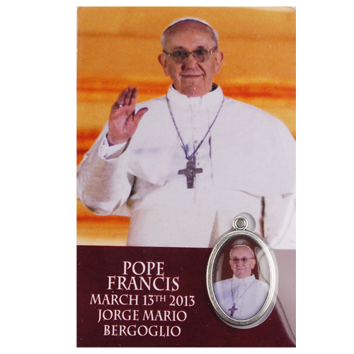 Pope Francis Medal with Holy Card