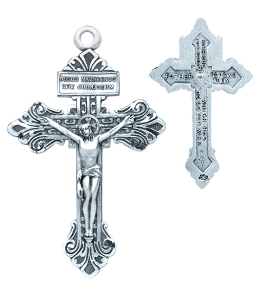 The charm features a St The Crucifix measures 5//8 x 1//4 Patron Saint Brewers//Theologians Silver Plate Rosary Bracelet features 6mm Amethyst Fire Polished beads Augustine of Hippo medal