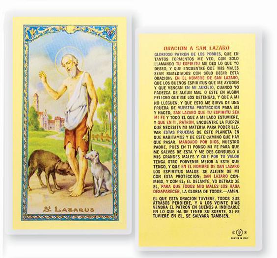 25//PKG SPANISH ST IGNATIUS LOYOLA LAMINATED PRAYER CARDS