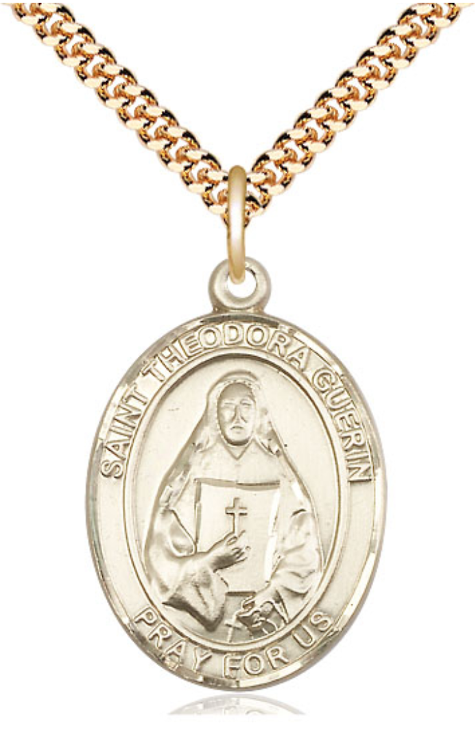 Gold-Filled St. Theodore Guerin Pendant