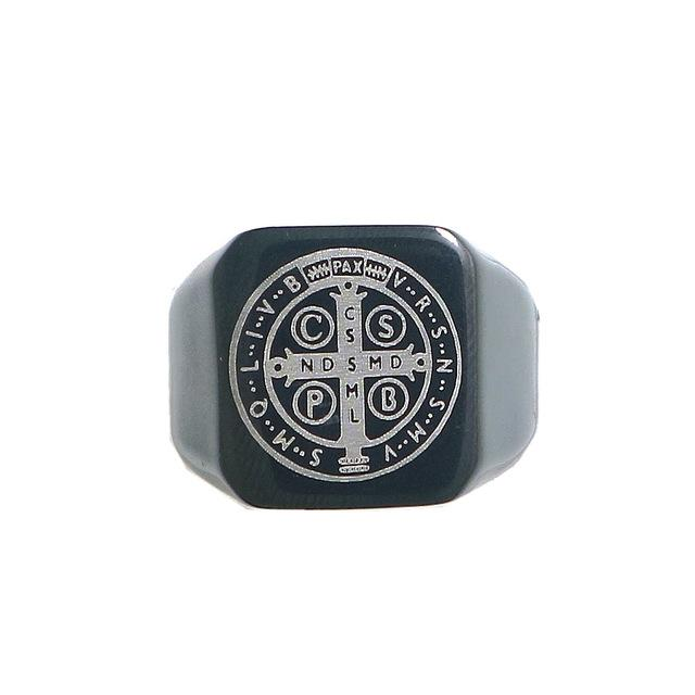 St. Benedict Laser-Etched Ring