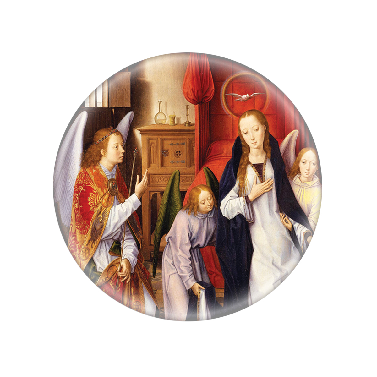 Annunciation Glass Magnet