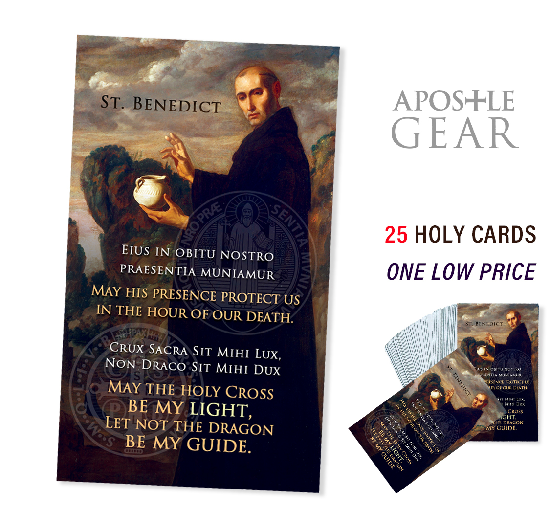 St. Benedict Holy Cards