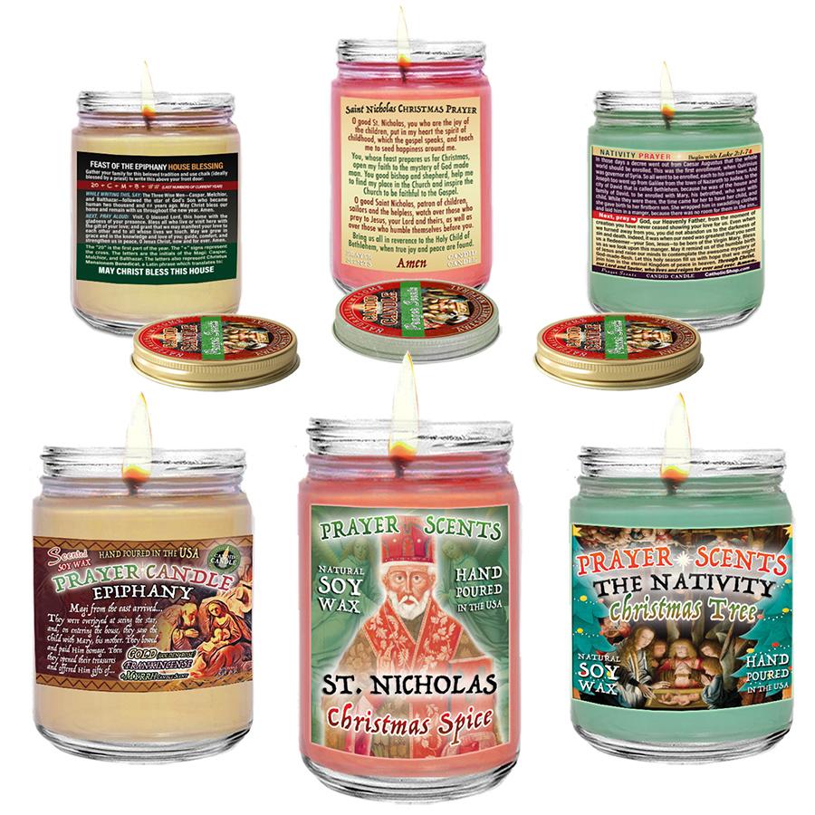 Christmas Prayer Candles