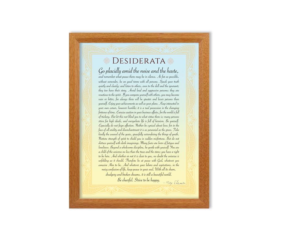 Desiderata Framed Print
