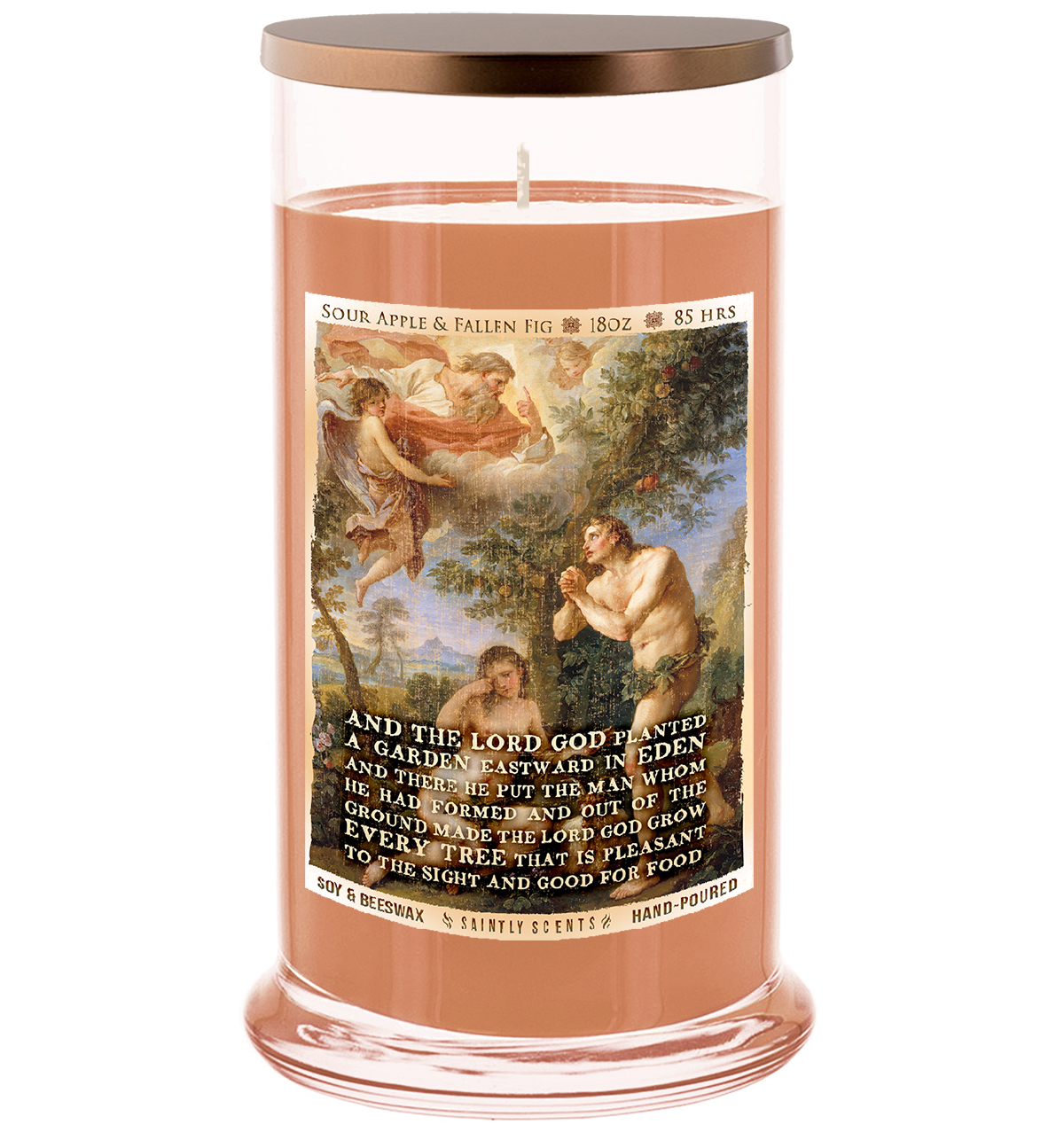 Garden of Eden Scented Prayer Candle - Sour Apples and Fallen Figs
