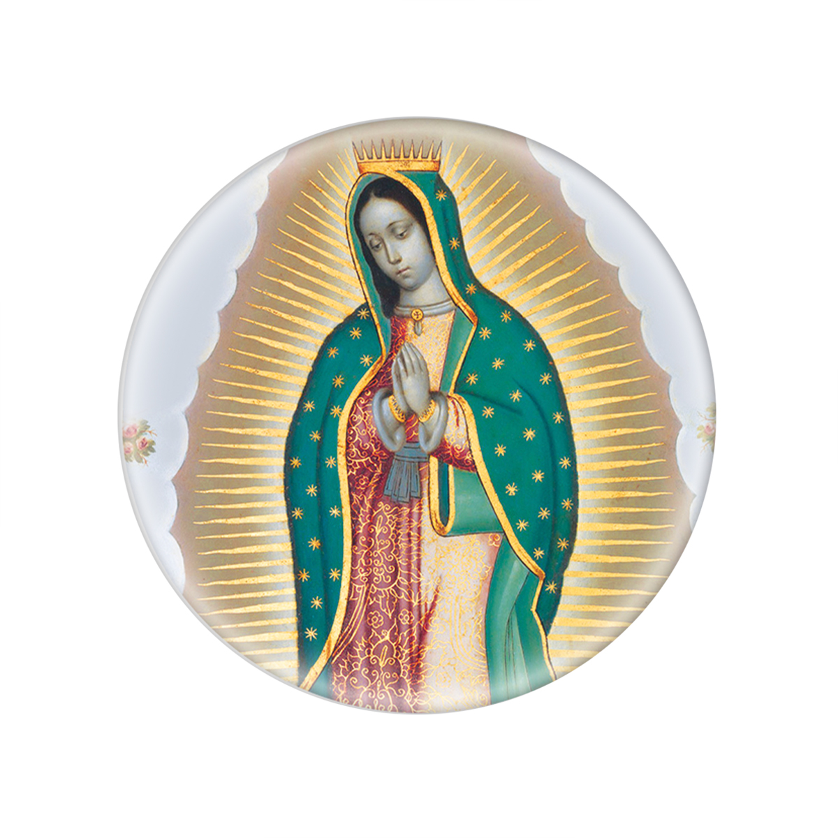 Guadalupe Glass Magnet