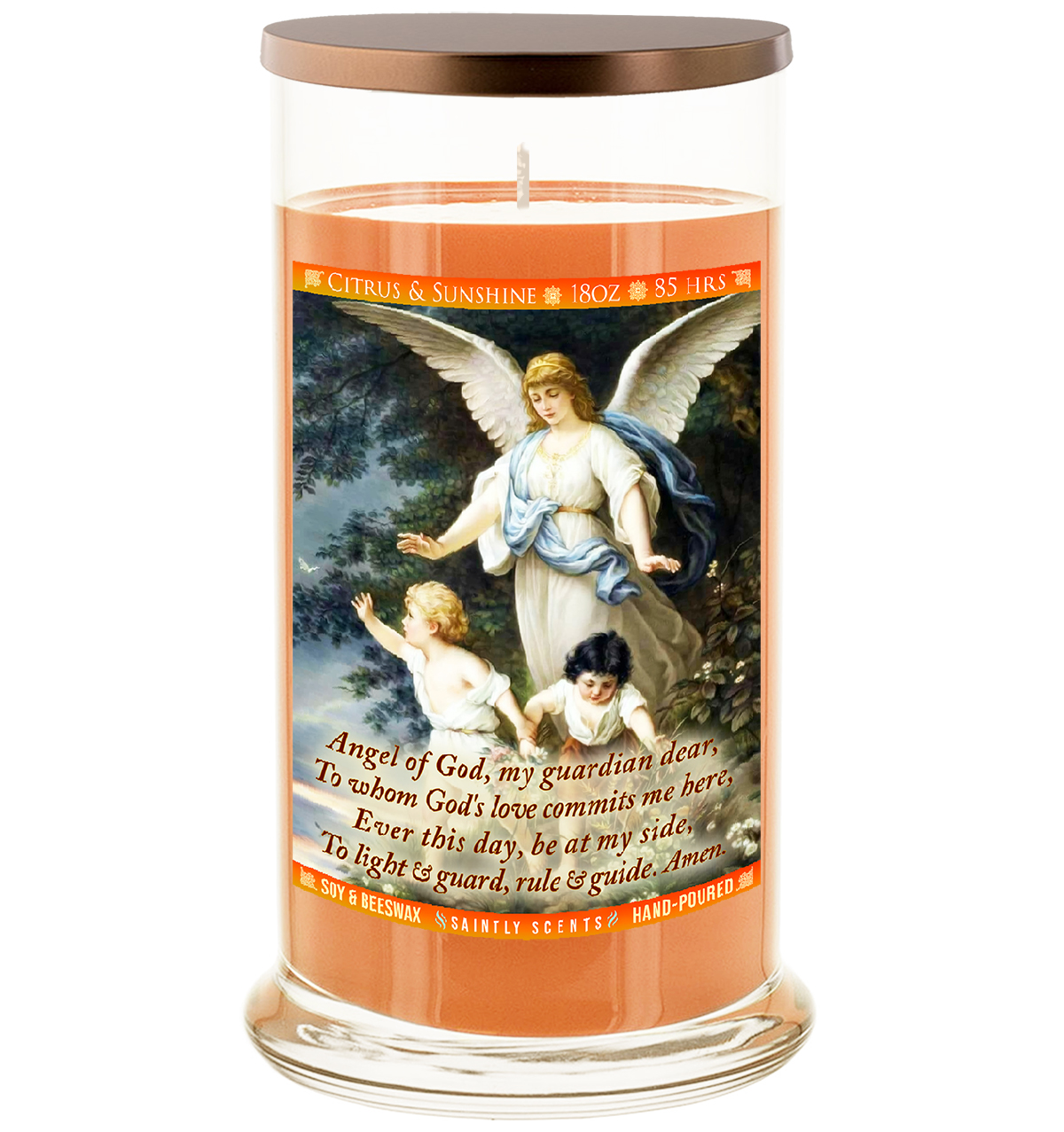 Guardian Angel Scented Prayer Candle - Citrus and Sunshine
