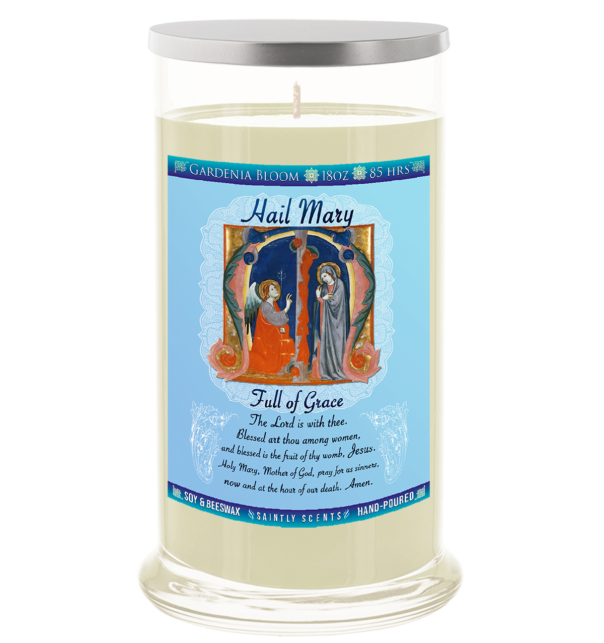 Hail Mary Scented Prayer Candle - Gardenia Bloom