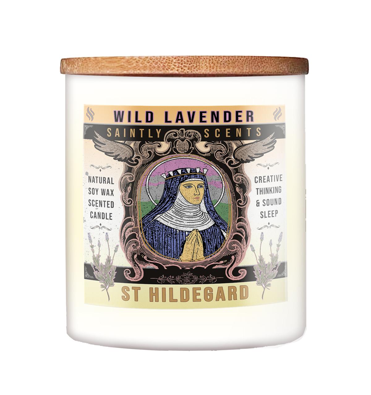 St Hildegard Lavender Scented Candle