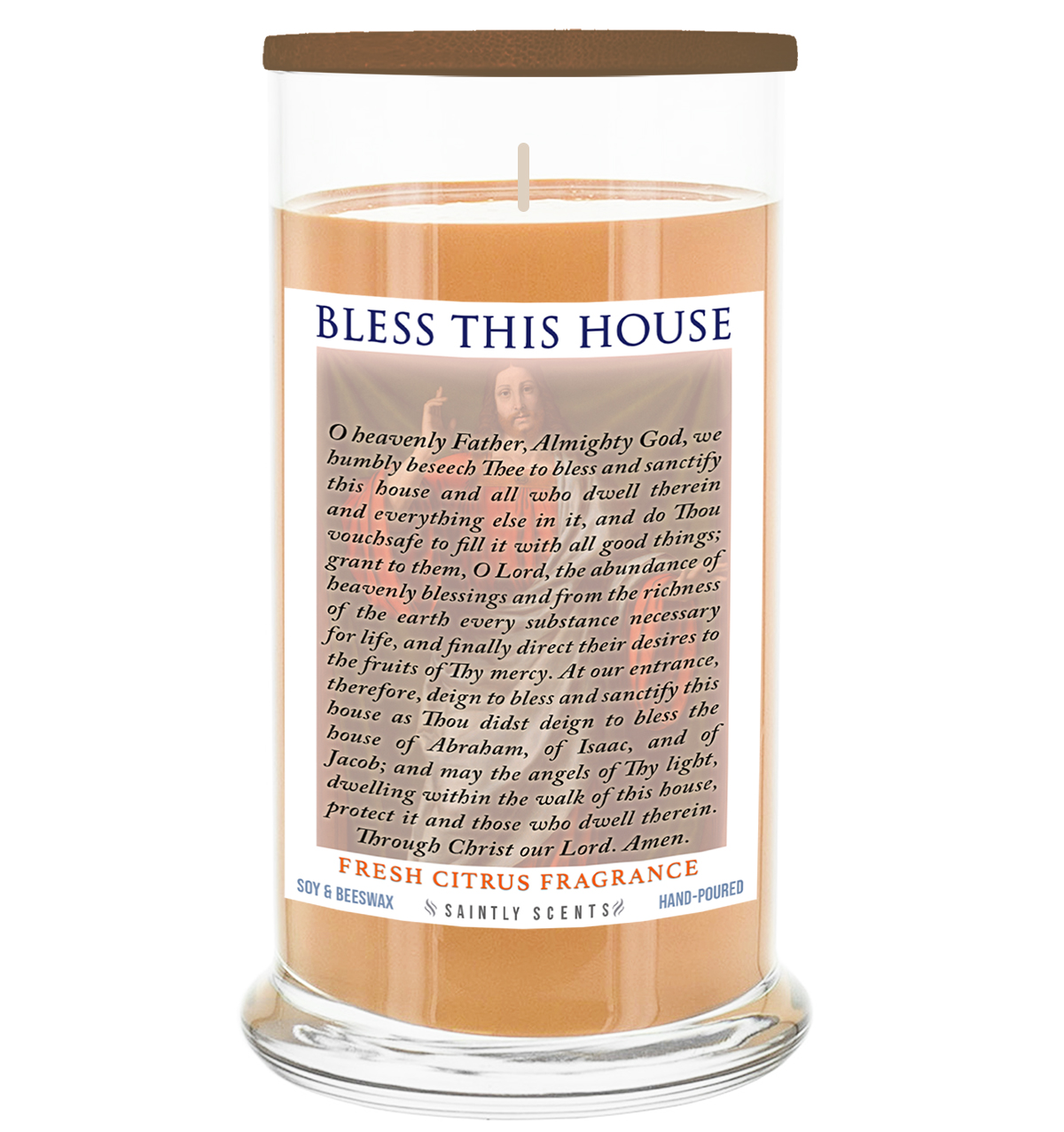 Bless This House Scented Prayer Candle - Fresh