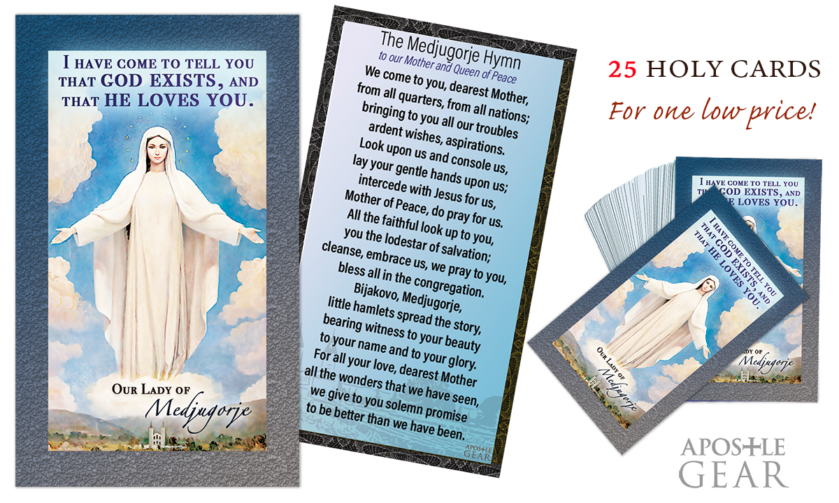 Our Lady of Medjugorje Prayer Cards