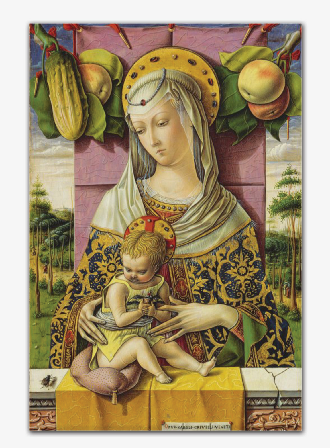 Our Lady of the Harvest painting