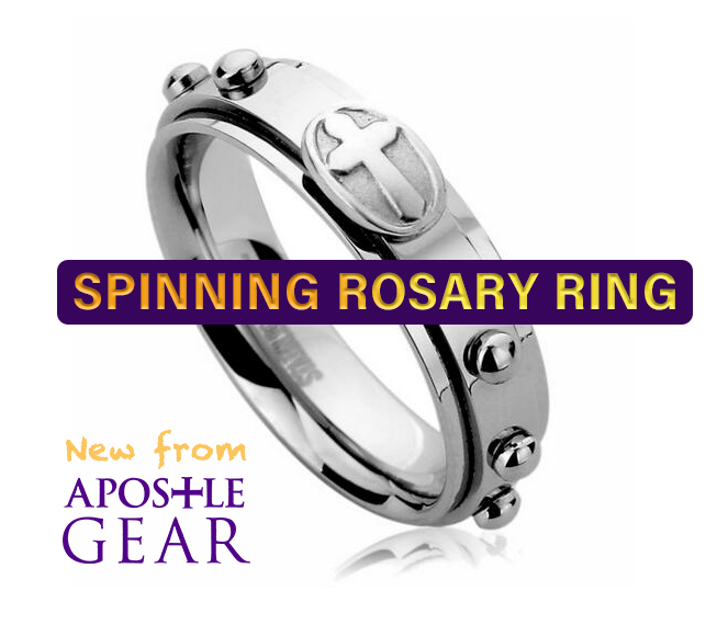 Rosary Spinner Ring