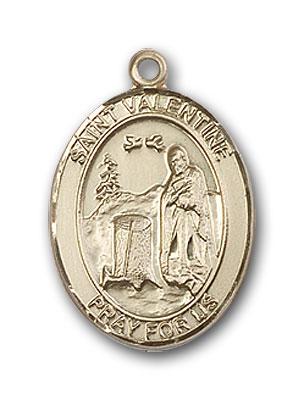 Patron Saint 1//2 x 1//4 Uriel Medal 14kt Gold St