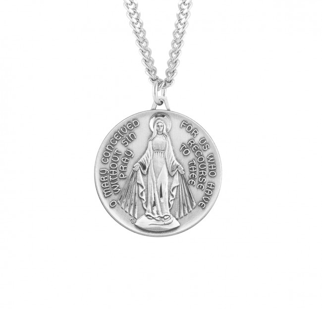 Kenneth Pendant with 18 Sterling Silver Lite Curb Chain Patron Saint of Monastery of Agahanoe Sterling Silver St