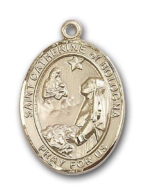 DiamondJewelryNY 14kt Gold Filled St Catherine of Siena Pendant
