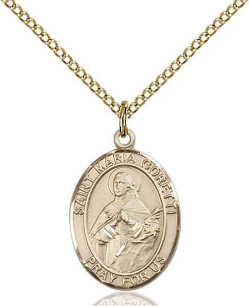 Saint Maria Goretti Pendant Necklace Religious Spiritual Inspirational Jewelry  Item No JE4320