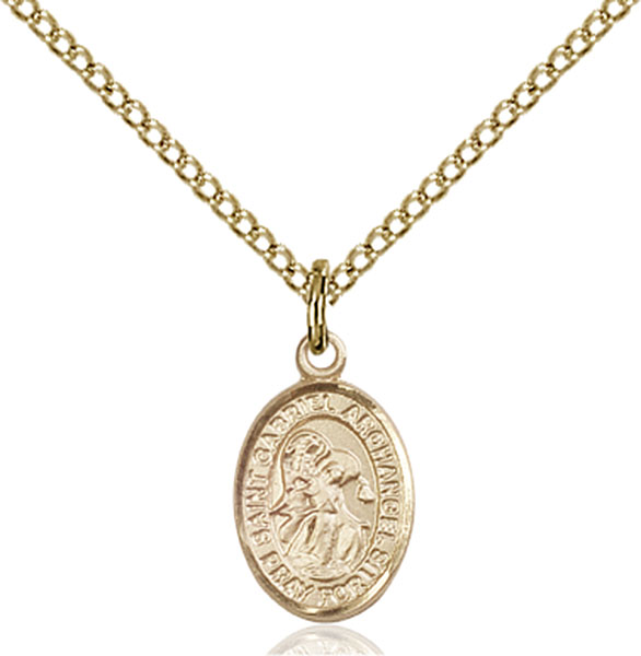 Catholic Jewelry St Gabriel the Archangel Charm Necklace Patron Saint Confirmation Gift with Your Choice  Italian Charm Keychain or Clip