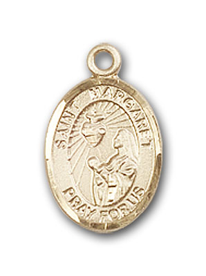 14kt Gold St Margaret Mary Alacoque Medal Patron Saint Polio//Loss of Parents 1//2 x 1//4