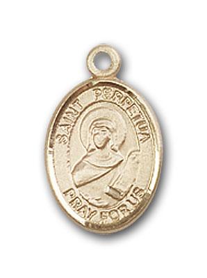 14kt Gold St Perpetua Medal