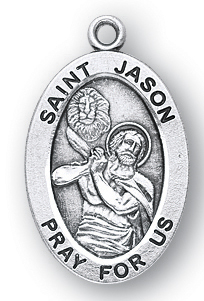 14kt Gold St Patron Saint of Those Named Jason Jason Medal